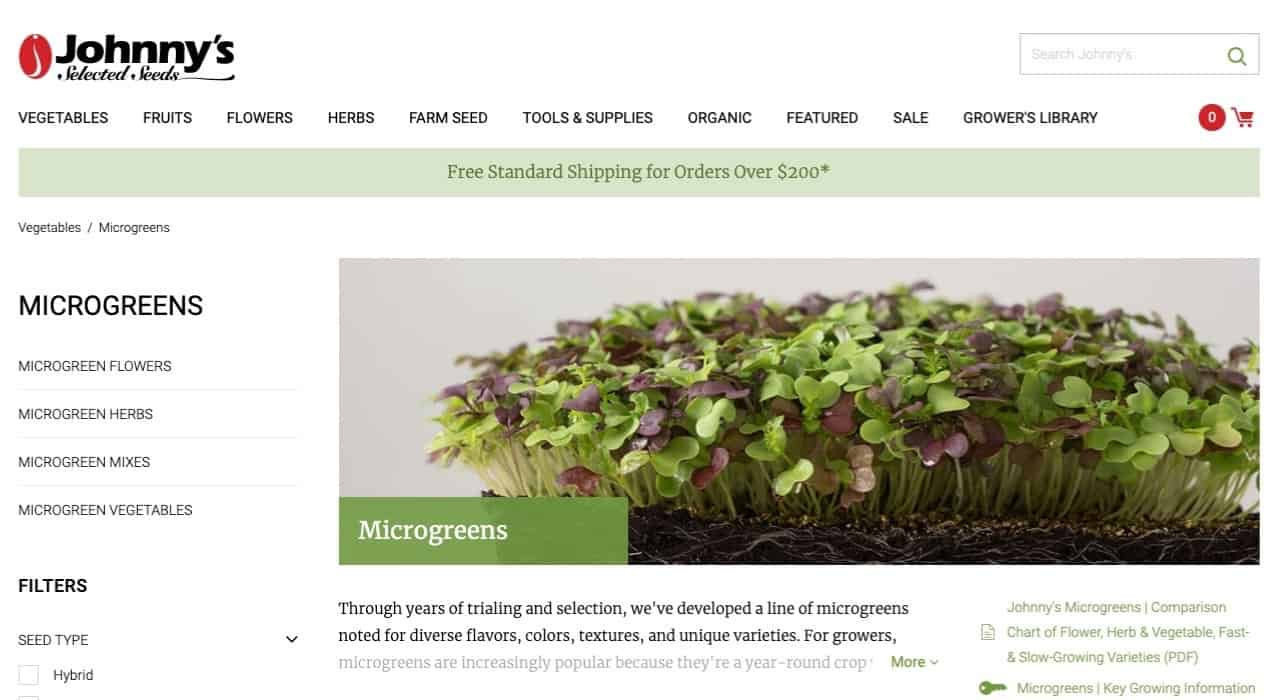 Johnnys Selected Seeds Online