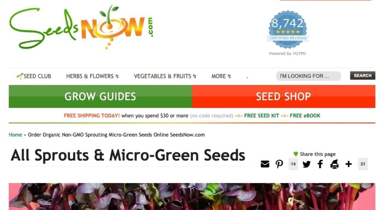 Seeds Now Online